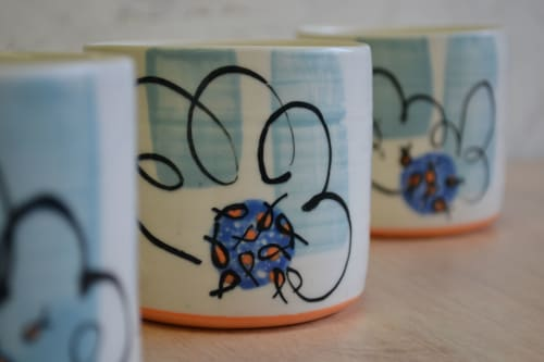 Cups by Natasha Swan Ceramics seen at Private Residence, Whitehead - Seaside Edition 8oz