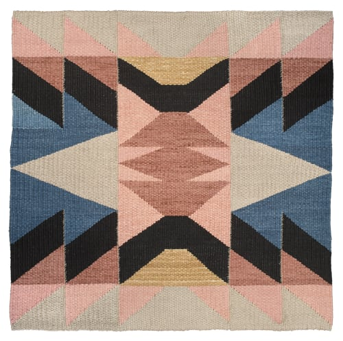 Rugs by TANU handwoven textiles at Private Residence, Santa Fe - House of the Standing Moon Rug