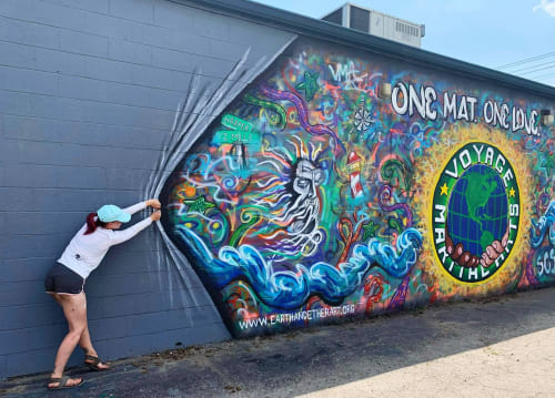 Murals by Earth & Ether Art seen at St. Clair Shores, St. Clair Shores - One Mat, One Love - Public Mural