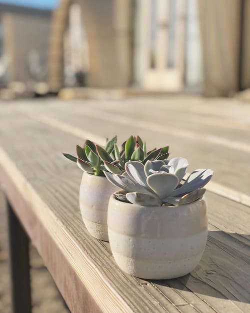 Vases & Vessels by Playa Ceramics seen at Private Residence, Cuyama - Planters