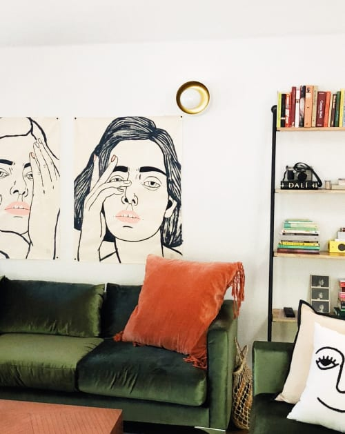 Paintings by CARLA FUENTES seen at Private Residence, Los Angeles - GIRL 1 AND 2