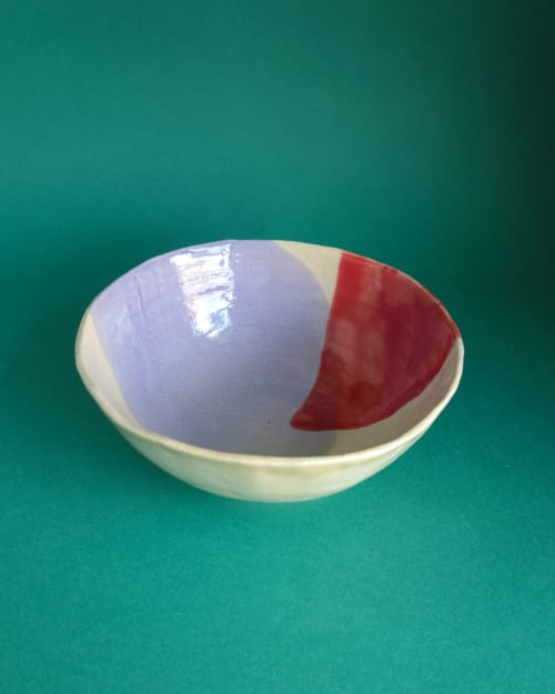 Ceramic Plates by Victoria Ceramics seen at Private Residence, Manchester - Splashed bowl