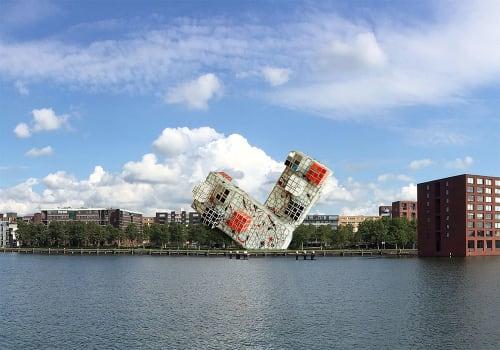 Public Sculptures by Peter Vial seen at Amsterdam-Zuidoost, Amsterdam - Artist impressions