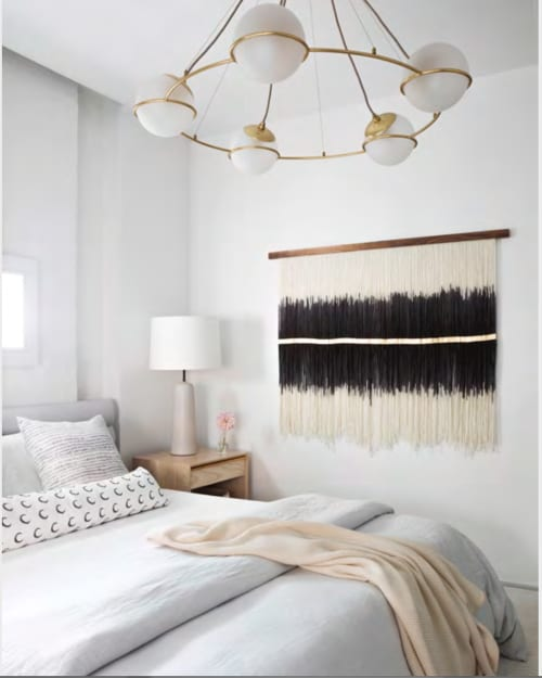 Wall Hangings by Lauren Williams seen at Private Residence, Brooklyn - Black & Gold