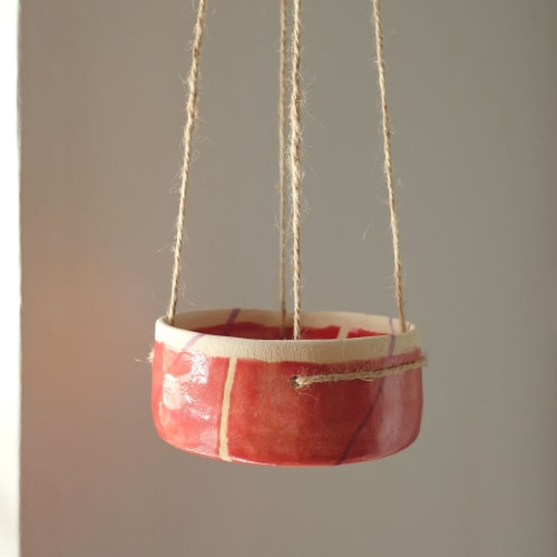 Vases & Vessels by Victoria Gilles Fernández seen at Private Residence, Manchester - Candy hanging planter