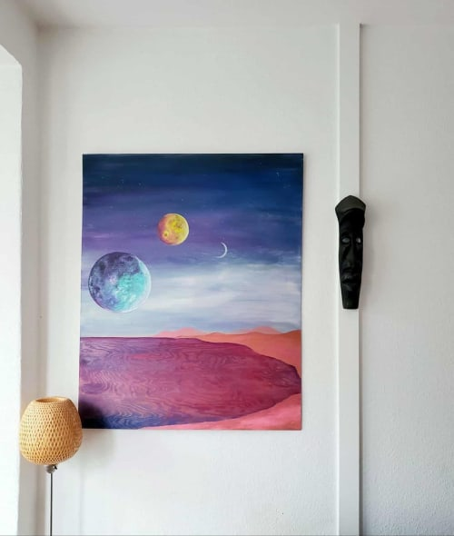 Paintings by Ciele Rose seen at Private Residence, Berlin - Planetary