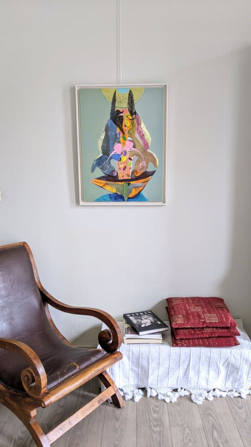 Paintings by Yasemin Senel seen at Private Residence, Brussels - Boat