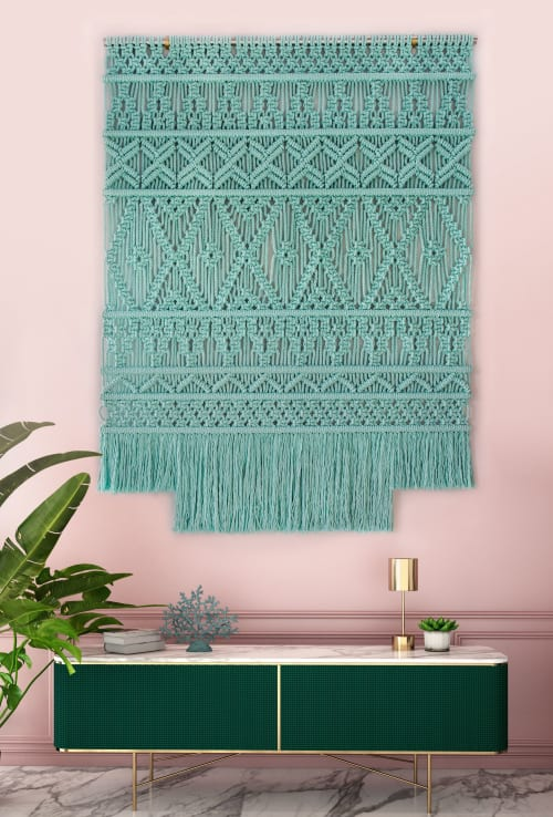Macrame Wall Hanging by Milla Novo seen at Creator's Studio - Wallhanging cotton mint