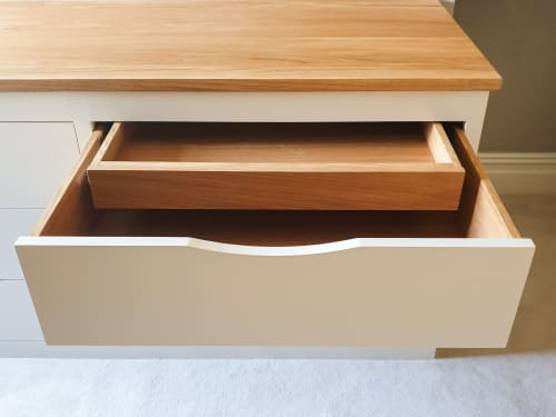 Furniture by Davies and Foster seen at Private Residence - Tattenhall Cheshire, Master Bedroom - Bespoke Set Of Drawers