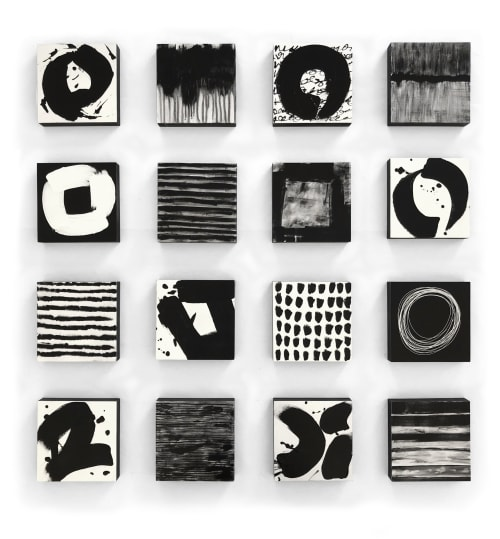 Sculptures by Paula Gibbs seen at Creator's Studio, Oro Valley - Black and White Wall Aculpture, Customizable, by Paula Gibb