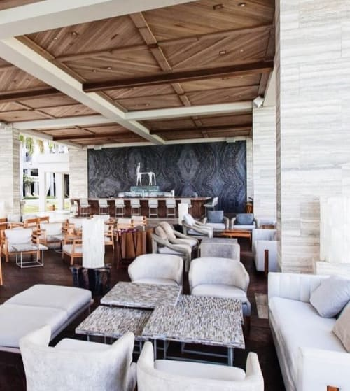 Tables by Ercole seen at Four Seasons Resort and Residences Anguilla, West End - London Grey Table