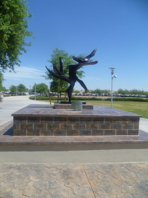 Public Sculptures by Hedva Ser seen at A.T. Still University, Mesa - Tree of Peace