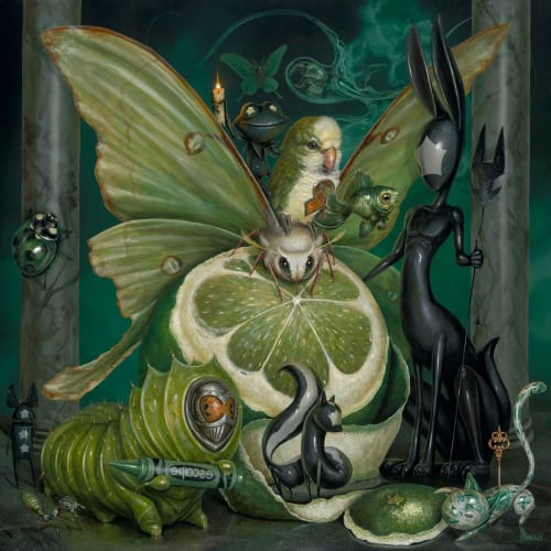 """Art & Wall Decor by Greg """"Craola"""" Simkins seen at Private Residence, Los Angeles - """"THE GREEN KEEPERS"""""""