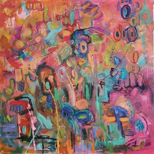 Paintings by Alena Reit seen at Gertie, Brooklyn - Night in Hamburg