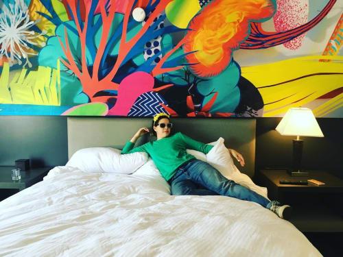 Art & Wall Decor by Maya Erdelyi seen at Studio Allston Hotel, Boston - Cut Paper Wall Design