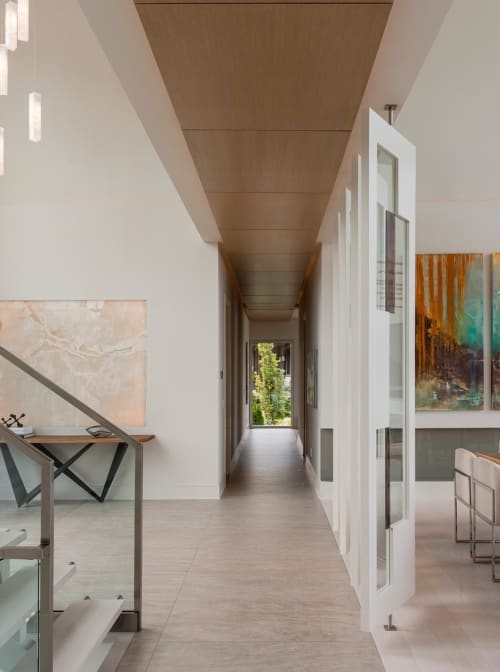 Paintings by Sarah Phelps Artist seen at Private Residence - Custom Triptych Painting