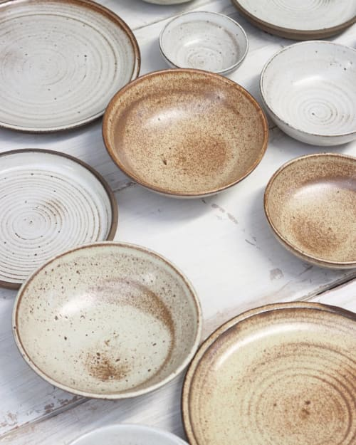 Ceramic Plates by Sam Andrew seen at Where the Light Gets In, Stockport - Ceramic tablewares, made from nerikomi waste clay