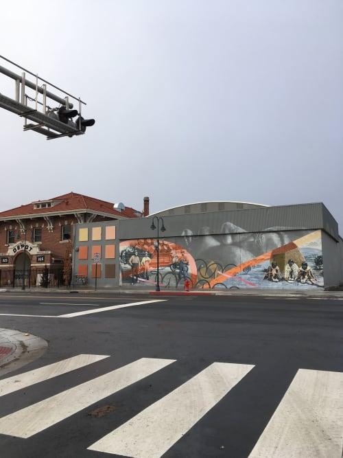 Murals by Erik Burke seen at The Depot Craft Brewery Distillery, Reno - Before Brewing