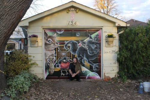 Murals by Shane Wilcox seen at Private Residence, London - Garage Door Mural