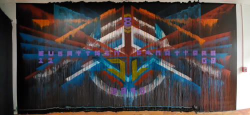Murals by D Young V seen at the loin, San Francisco - Everything Matters - The Loin