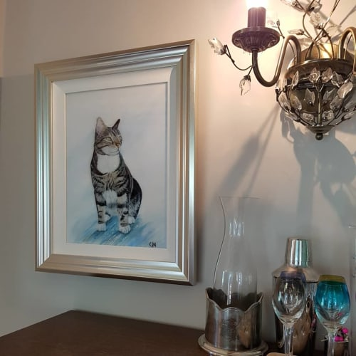 Paintings by Carolina Arbuthnot seen at Private Residence, Solihull - Enzo