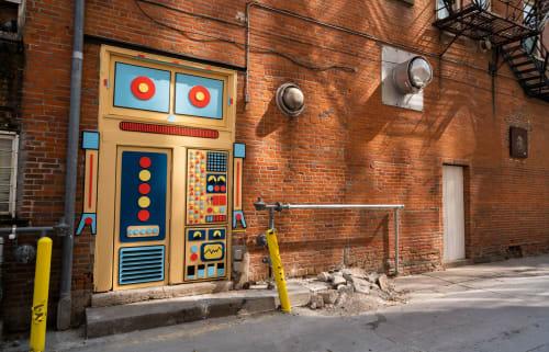 Public Sculptures by Ryan McGuire seen at South Linn Street, Iowa City - Iowa City Robot