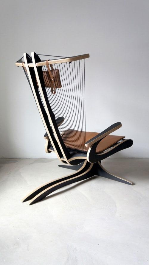 Chairs by Peter Qvist seen at Hornbæk, Hornbæk - Hippokamp Lounge Chair