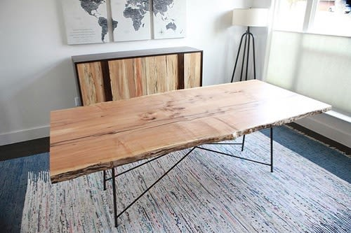 Tables by Blue J Woodworking seen at Private Residence, Austin - Live Edge Spalted Maple Table