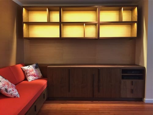 Furniture by Jason Lees Design seen at Private Residence, San Francisco - Shelves Cabinet Seating