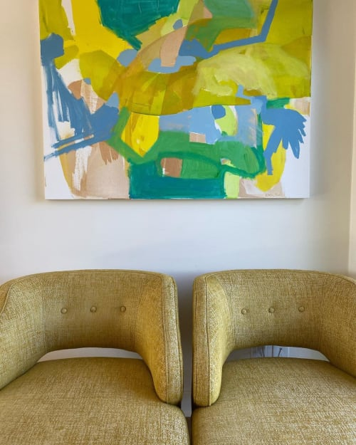 Paintings by Kari Kroll seen at Private Residence, Pasadena - Abstract Painting