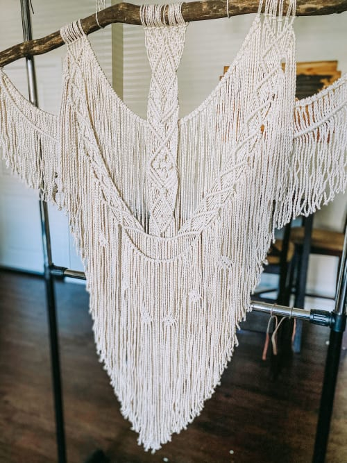 Macrame Wall Hanging by Knot Rocket Science seen at Private Residence, Madison - Macrame Wall Hanging