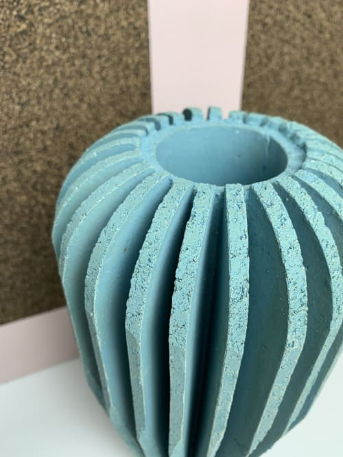Vases & Vessels by Andrew Walker Ceramics seen at Private Residence, Sheffield, Sheffield - Large Architect Billow Vessel - Turquoise