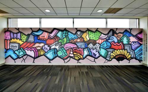 "Murals by Alloyius Mcilwaine Art seen at Philadelphia International Airport, Philadelphia - Philadelphia International Airport Mural - ""Jawn 2 - It's A Philly Thing"" Collection"