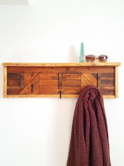 Wall Hangings by Teal Marie Design seen at Private Residence, Philadelphia, Philadelphia - Cedar & Poplar Coat Rack!