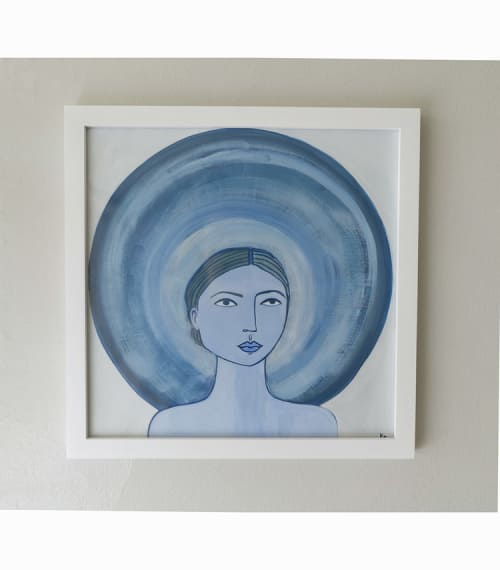 Paintings by Katherine George at Private Residence, Memphis - Blue Haloed Girl