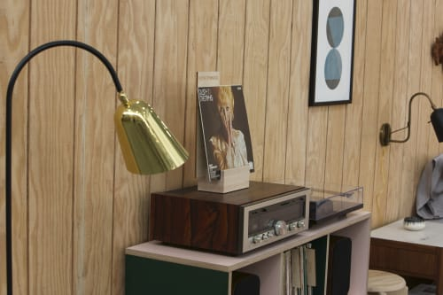 "Furniture by Jason Lees Design seen at Bay Area Made x Wescover 2019 Design Showcase, Alameda - ""For the Record"" Record/Book Storage Cabinet"