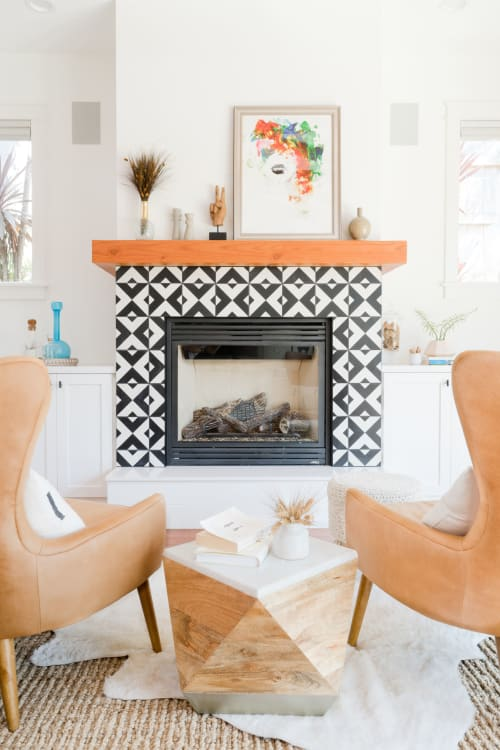 Tiles by clé tile seen at A Coastal California Modern Home by SALTHOUSE collective, Carlsbad - Tile