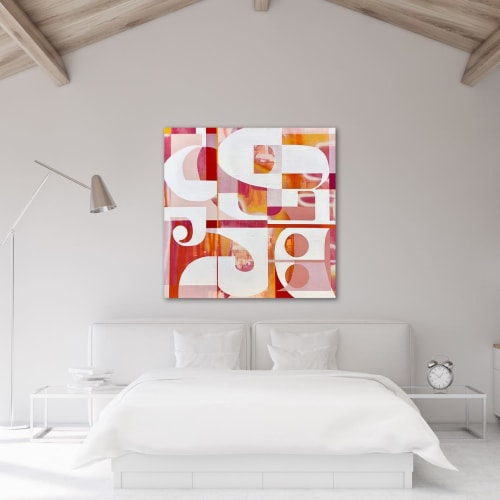 Paintings by TS ModernArt Studio seen at Private Residence, Los Angeles - Race for Pinks