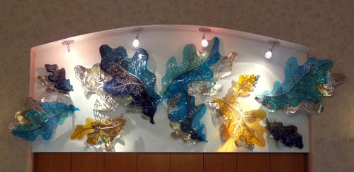 Sculptures by Deanna Marsh seen at Adventist Health and Rideout, Marysville - Lobby Sculpture