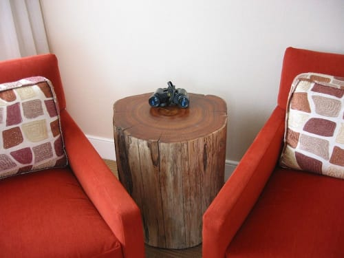 Tables by Jason Lees Design seen at The Inn Above Tide, Sausalito - Black Acacia Side Table