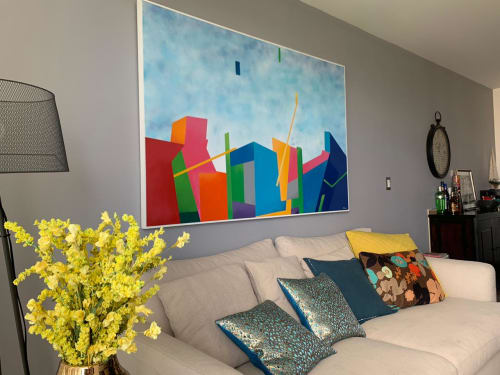 Paintings by Mod Cardenas seen at Private Residence - Custom geometric painting