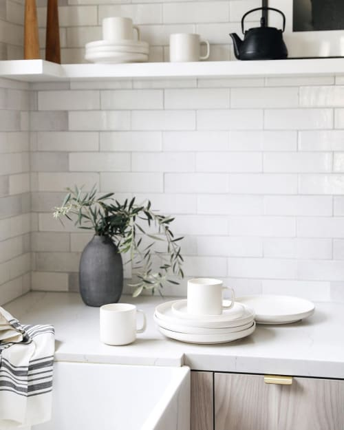 Ceramic Plates by OAK + FORT Home seen at Anne Sage's Home, Los Angeles - Stoneware Dishes