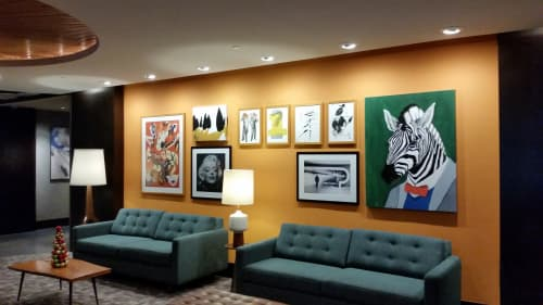 Art & Wall Decor by Jamie L. Luoto seen at The Liaison Capitol Hill, Washington - Zebra