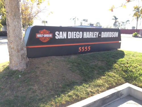 Signage by David Vich - neonjungleSD.com, inc. seen at San Diego Harley-Davidson Kearny Mesa, San Diego - Business Signage