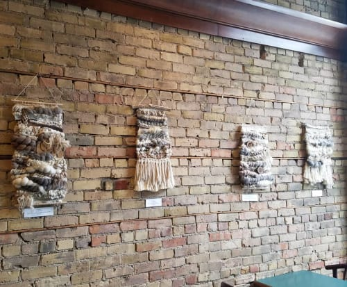 Macrame Wall Hanging by TexturizeYourEyes by Amber Kokenge seen at Taraccino Coffee, Minneapolis - Woven Wall Art