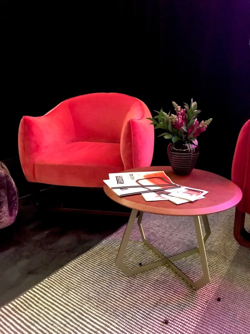 Chairs by Marie Burgos Design at Independent Lodging Congress, in the William Vale NYC, Brooklyn - Milo Armchair
