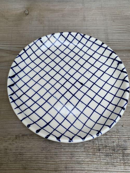 Tableware by Anna Broström Ek seen at Crossed Lines, Shibuya City - Checkered saucer