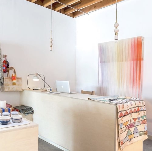 Wall Hangings by Nike Schroeder Studio seen at Kin and Kind, Los Angeles - Convex Concave installed in Atwater Village
