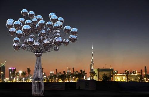 Public Sculptures by Vibhor Sogani seen at Dubai Creek Harbour, Dubai - Joy