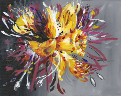 Paintings by Judy Century Art seen at Private Residence - Daffodil Surprise